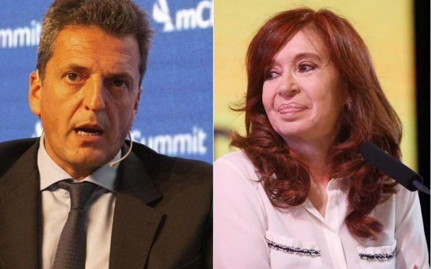 Massa y Cristina, juntos en una reunión del Frente de Todos para armar la campaña