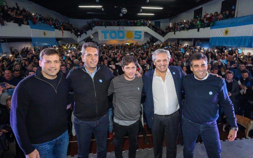 """Alberto, Kicillof y Massa tuvieron su primer acto juntos: """"Que nos hayamos reencontrado es el primer paso"""""""
