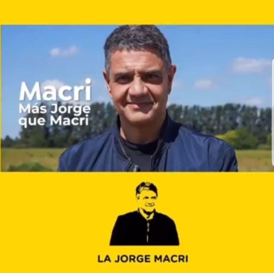 El afiche completo de Jorge Macri firmado por una supuesta agrupación en su apoyo, pero que desde sus filas no reconocen como propio del primo del ex presidente