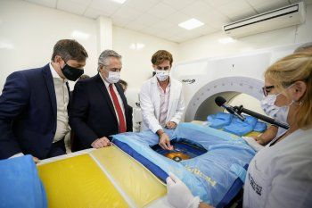 Fernández y Kicillof supervisaron el operativo de vacunación