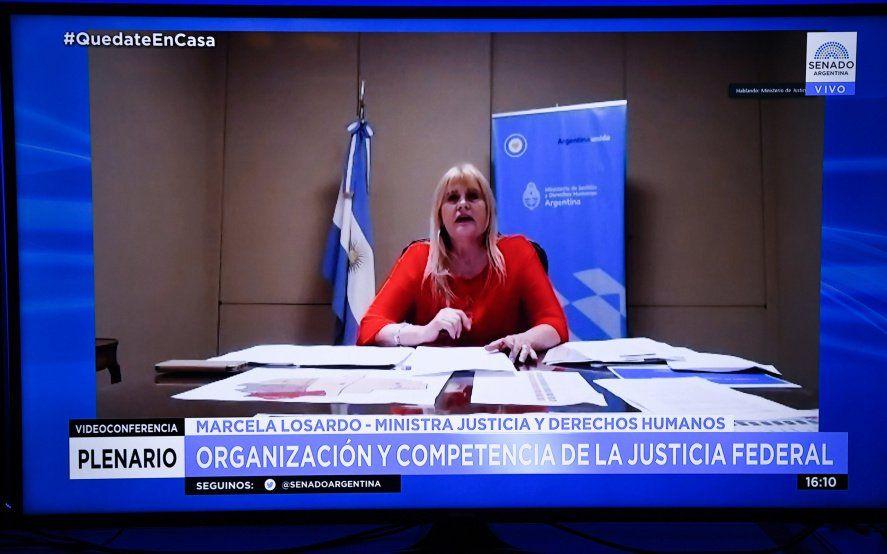Losardo detalló en el Senado en qué consiste la reforma judicial