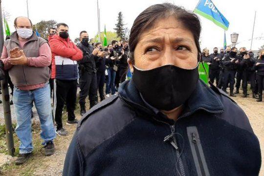 Durante la protesta en La Plata, González habló sobre el trato que reciben las mujeres de la Policía