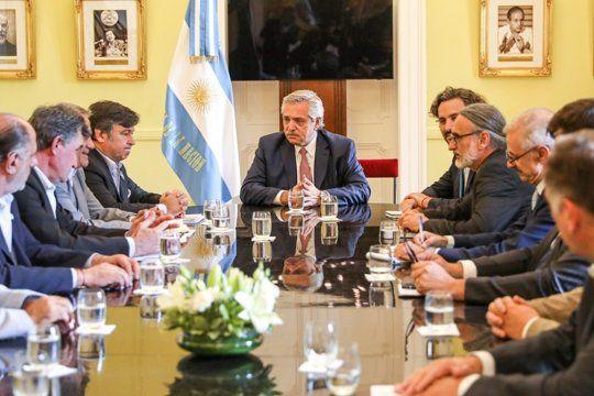 El presidente Alberto Fernández recibe a la Mesa de Enlace