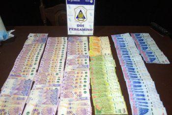 Los presuntos boqueteros cayeron con 82.000 pesos