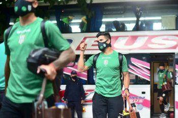 Jorge Rodríguez, en la llegada de Banfield al estadio para la final ante Boca