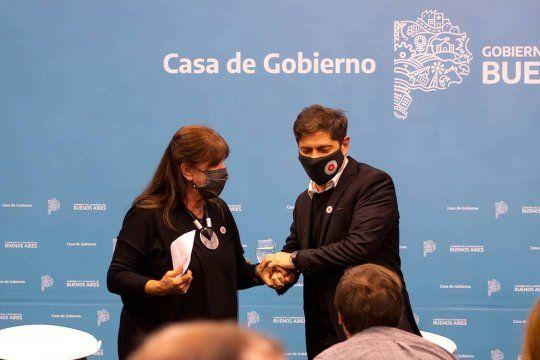 El gobernador Axel Kicillof impulsa las Casas de la Provincia, que cuenta con la tutela de Teresa García.