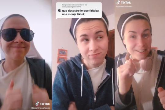 una monja es furor en tiktok: jesus llego a la app de los jovenes
