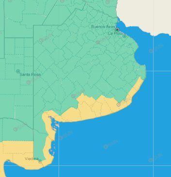 El SMN emitió un nuevo alerta por vientos para la costa sur bonaerense: Mar del Plata vuelve a tener una jornada con ráfagas.
