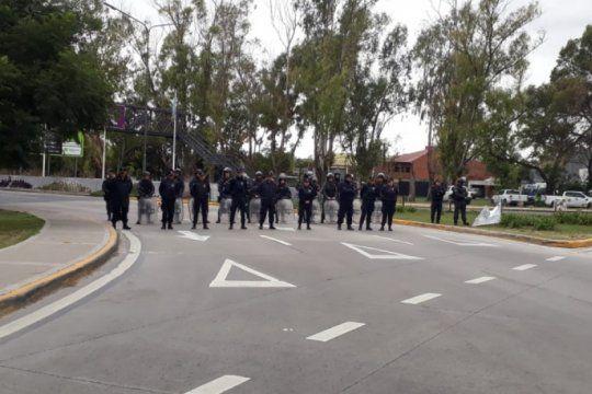 represion policial tras una protesta en la autopista