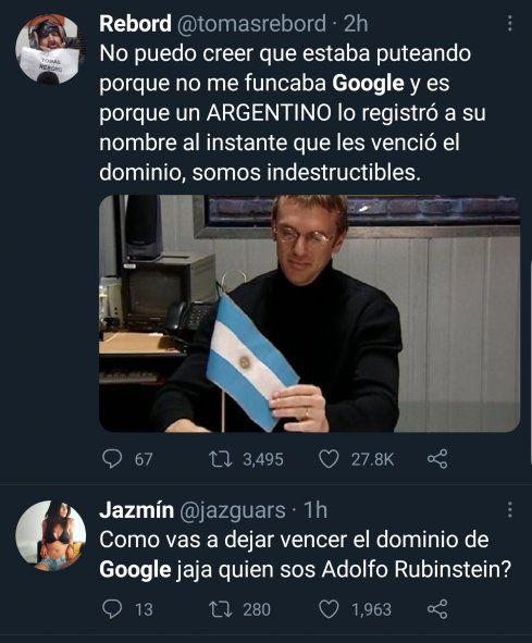 El humor fue la característica principal de los comentarios frente a la compra de ocasion que el joven Nicolás Kuroña hizo del dominio Google argentino
