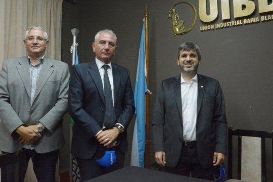 Fabián Gurrado, Gustavo Elías y Gustavo Lari. Fotos: Emmanuel Briane-La Nueva.