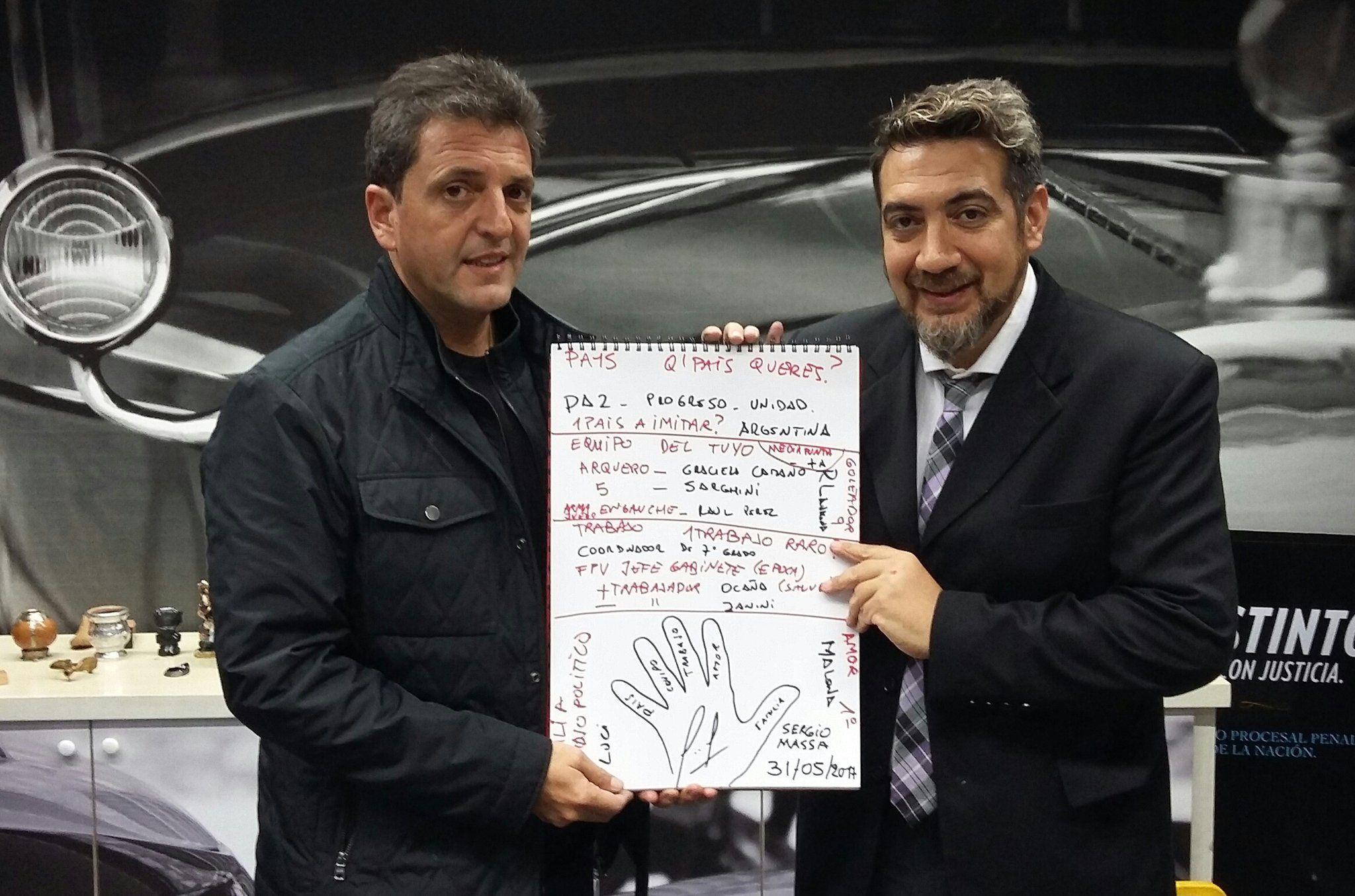 Sergio Massa, mano a mano con el Pato Galván