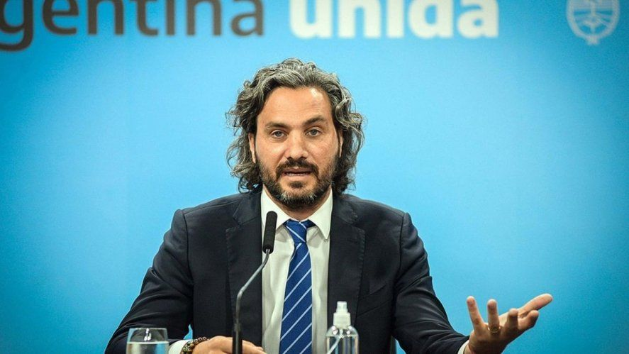 El jefe de Gabinete, Santiago Cafiero, y los ministros del Interior, Eduardo de Pedro, y de Obras Públicas, Gabriel Katopodis, encabezan un acto