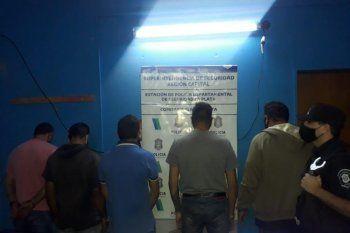 Los detenidos por realizar entraderas en La Plata fueron cinco, todos ellos hombres.