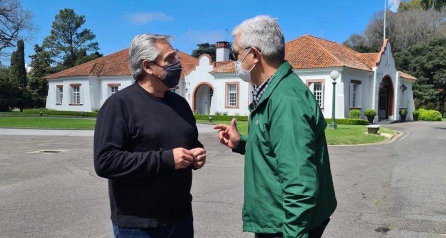 El presidente Alberto Fernández mantuvo un encuentro con Julián Domínguez.