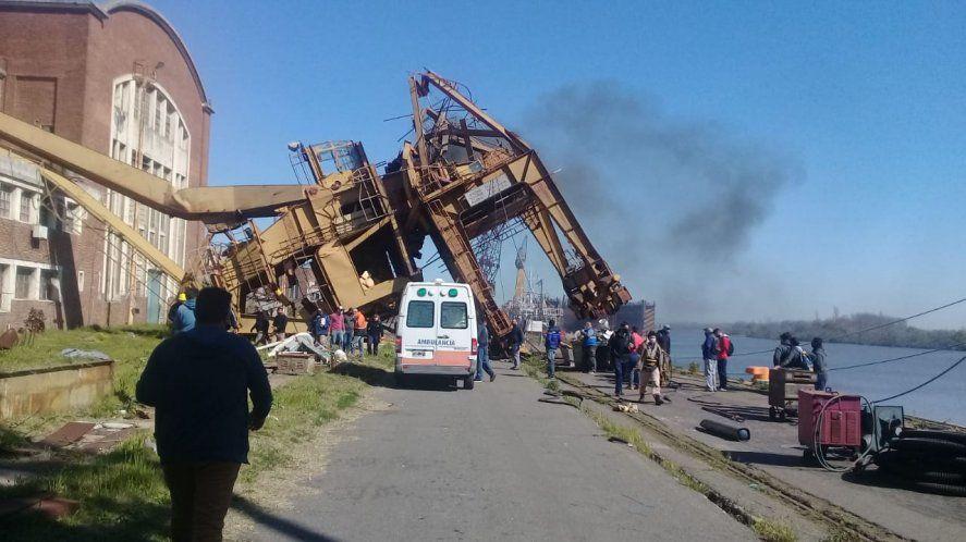 La grúa Jonach se desplomó y lastimó a tres trabajadores de Astillero Río Santiago