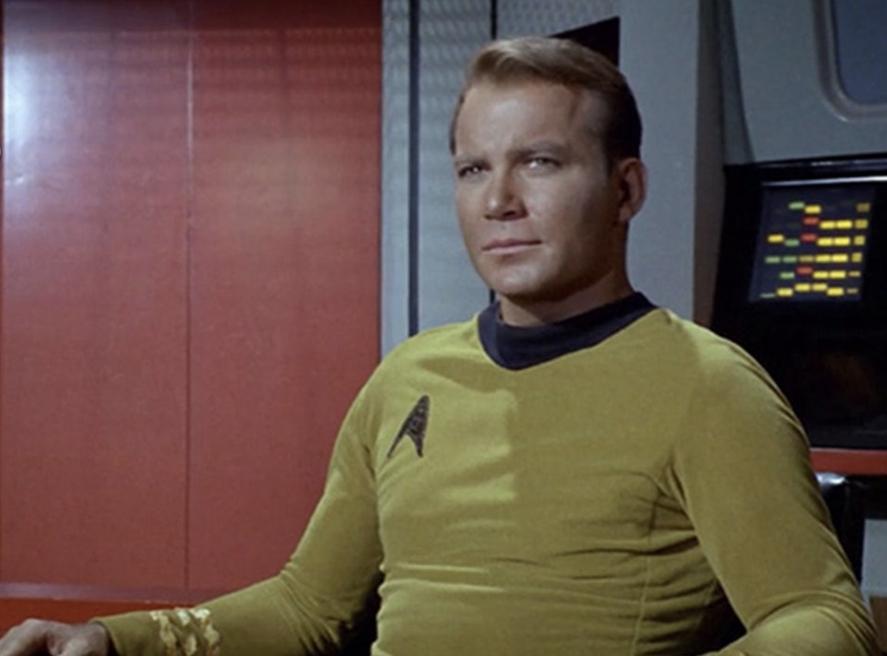 El capitán Kirk viajó a las estrellas