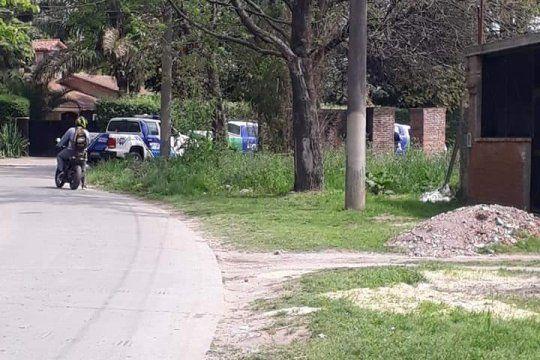 En este descampado fue hallado el cuerpo de la joven