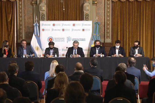 nacion y provincia anunciaron inyeccion de fondos y obras para los municipios bonaerenses