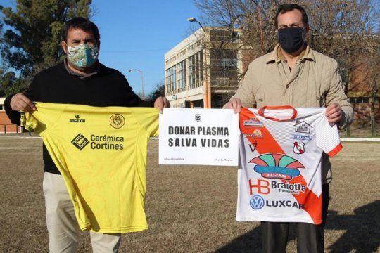 Flandria y Luján, unidos para concientizar sobre la donación de plasma