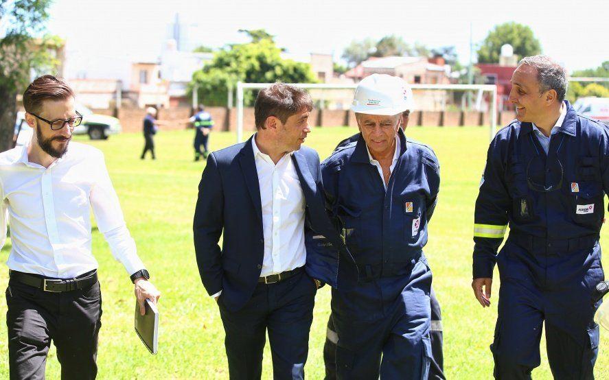 """Kicillof visitó una refinería en Campana y apuntó a """"seguir incrementando las grandes inversiones"""""""