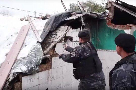 derribaron seis bunkeres narcos en la matanza: ya son 132 los derrumbados en la gestion actual