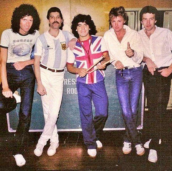 Queen en Argentina: El día que Maradona conoció a Freddie Mercury