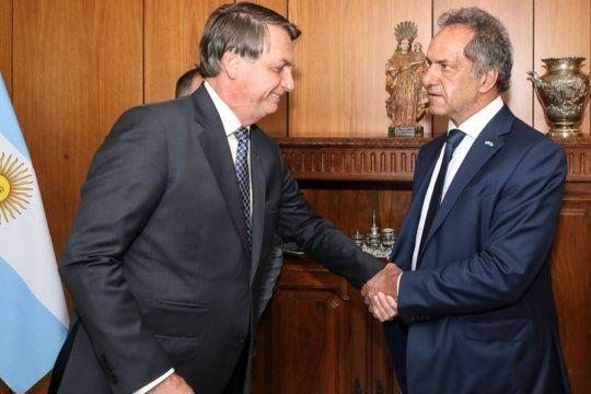 mercosur: daniel scioli cruzo al ministro brasileno