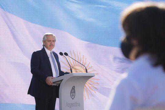 Alberto Fernández encabezó desde Olivos el acto por los 201años del fallecimiento del general Manuel Belgrano.