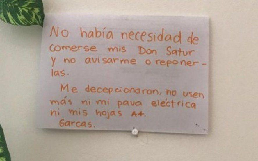 """""""No había necesidad de comerse mis Don Satur"""": el mensaje entre compañeros de oficina que se hizo viral"""
