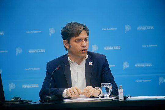 El gobernador Axel Kicillof encabeza la reunión con intendentes de la primera sección en Casa de Gobierno.