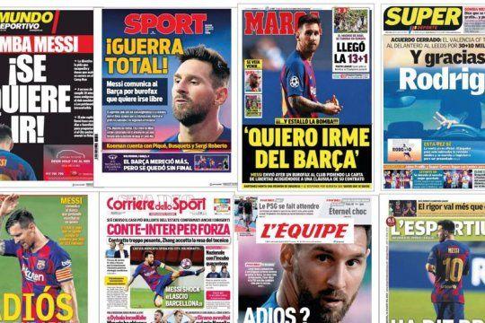El día después del adiós de Messi al Barcelona: El mundo habla de él