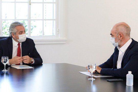 Tensión y reconciliación. Esta vez, Horacio Rodríguez Larreta apoya las medidas del Gobierno para frenar al coronavirus.