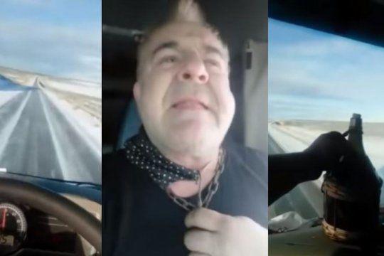 ¡vamos renolito!: volco su camion mientras se filmaba en la nieve sin cadenas y escuchando los redondos