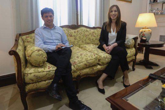 por primera vez, maria eugenia vidal critico a axel kicillof