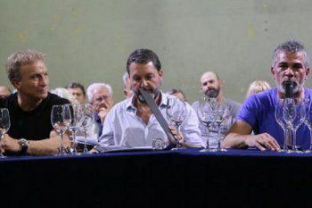 La dirigencia de Gimnasia al asumir en el 2019