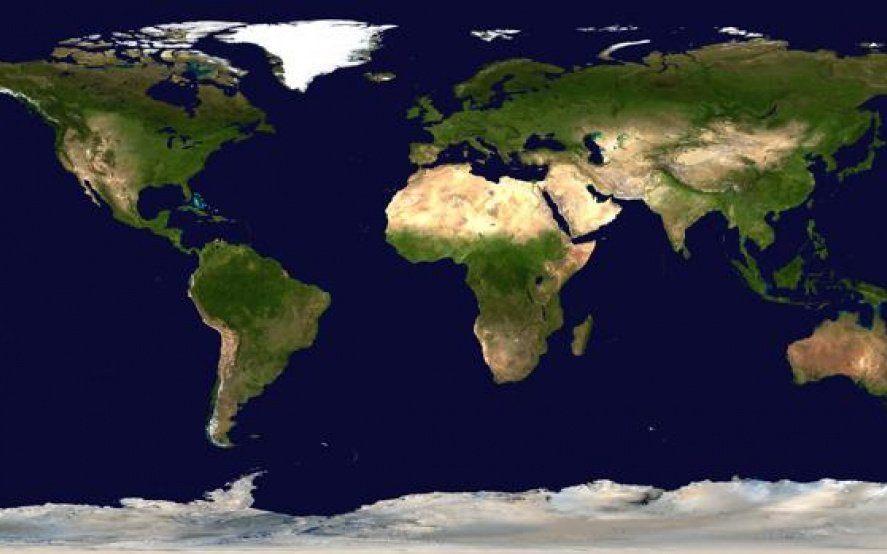 La imagen que muestra el tamaño real de cada país del mundo