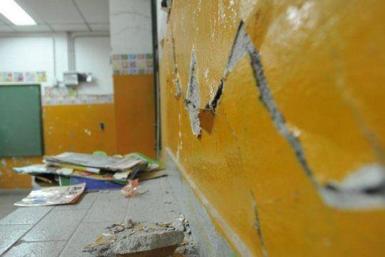 la emergencia en infraestructura escolar profundizo la crisis en cambiemos