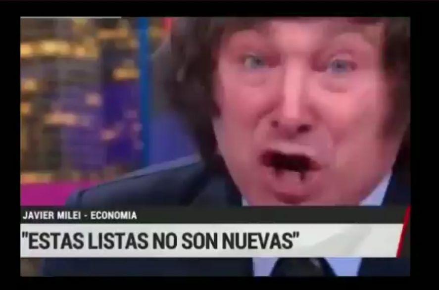 Inyectado de bronca el economista ultraliberal Javier Milei denunció en el programa de Viviana Canosa al Gobierno por perseguir a las personas de derecha