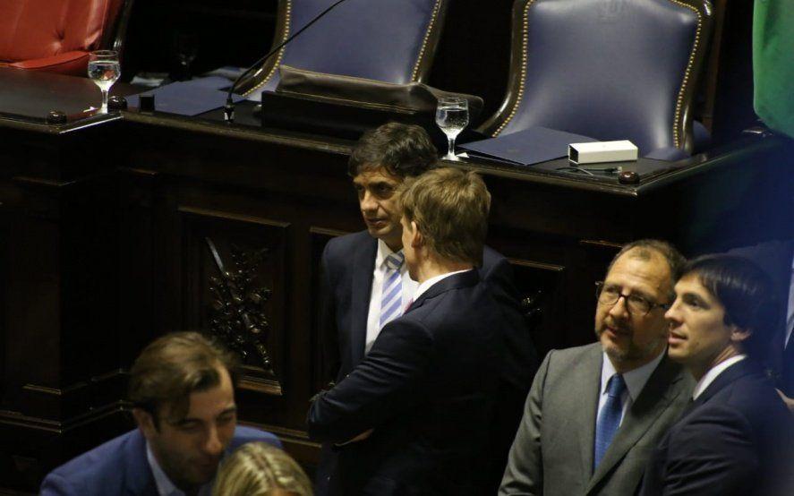 El que recauda y el que administra: Lacunza junto a Fossatti.