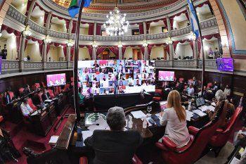 Una vez más, el Senado bonaerense sesionó de manera virtual.