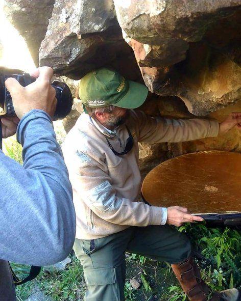 Arqueólogos en la Reserva a Natural Sierras Grandes