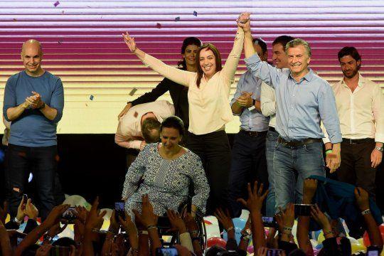 Los días felices: Macri, Vidal y Rodríguez Larreta celebran el último triunfo electoral de JxC.