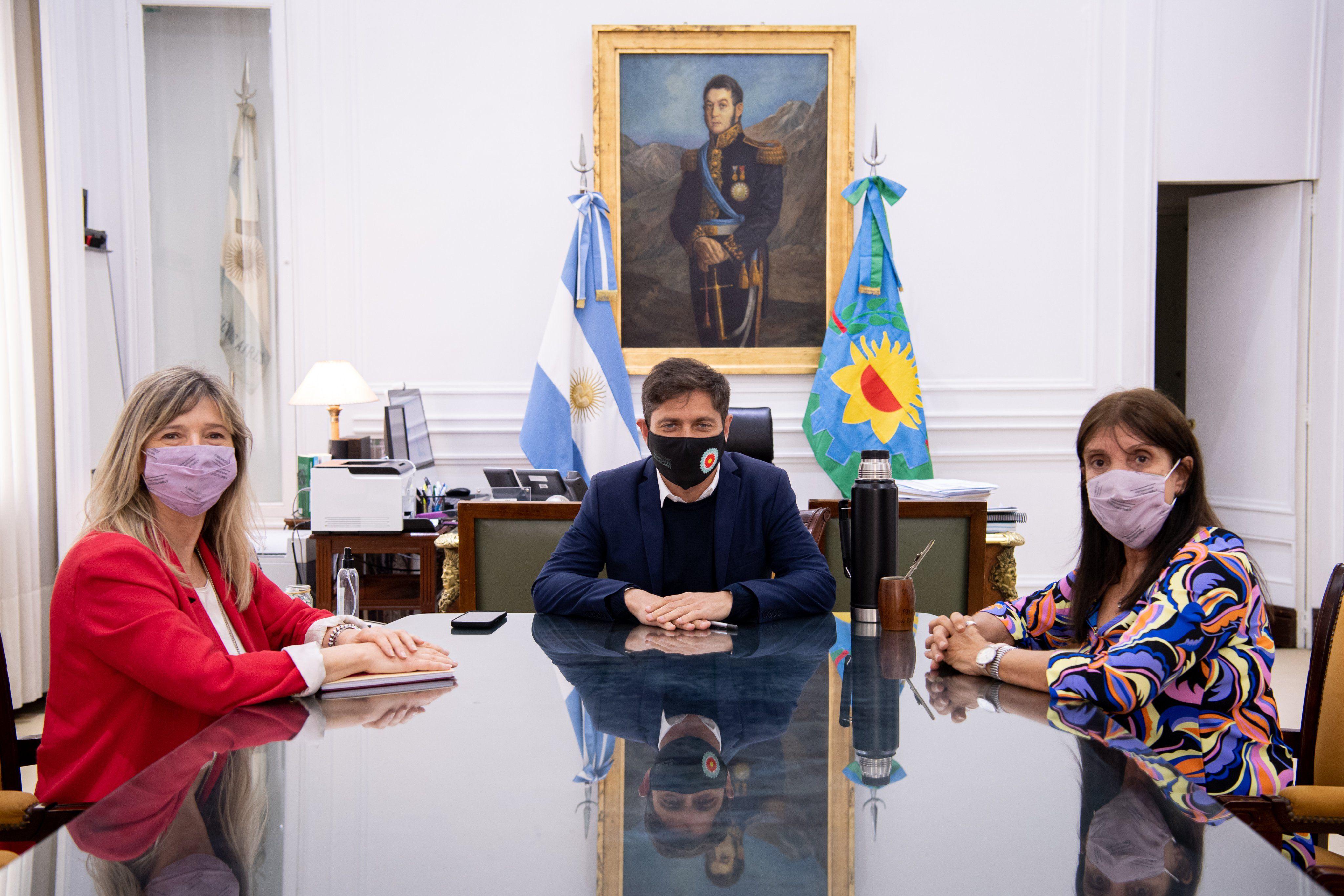 Axel Kicillof se reunió con Teresa García y su reemplazante
