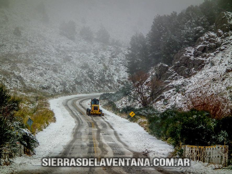 Las Sierras de la Ventana, nevadas durante años anteriores