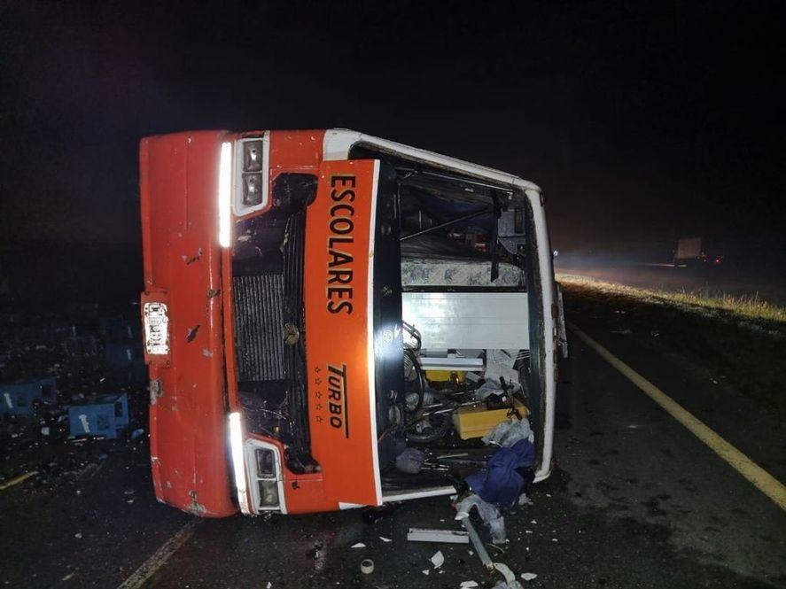 Chascomús: un bebé muerto y seis heridos en choque en Ruta 2