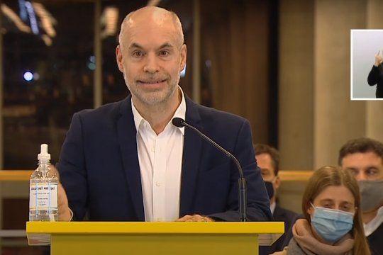 El jefe de Gobierno porteño, Horacio Rodríguez Larreta, brindó una conferencia de prensa un día después de la quita de un punto de coparticipación.