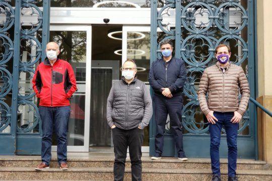 Gridentti, Jorge Macri, Garro y Valenzuela. Los cuatro intendentes del PRO bonaerense.