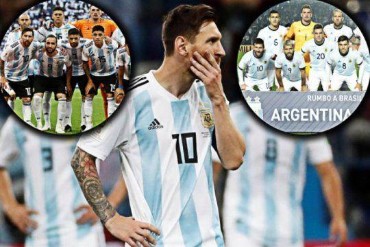 ¿cuanto cambio la seleccion argentina a un ano del mundial de rusia?
