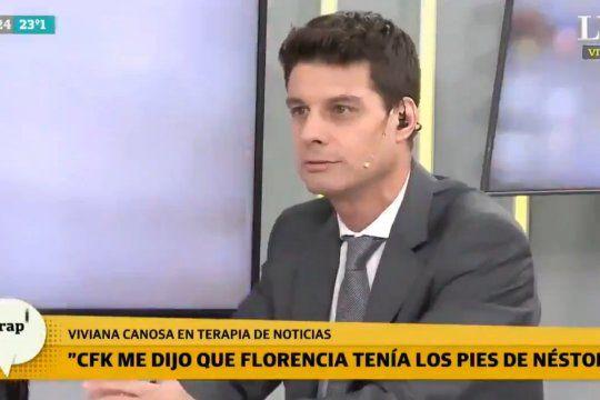 El entrevistador de Canosa revela el secreto mejor guardado: el tamaño de los pies de CFK